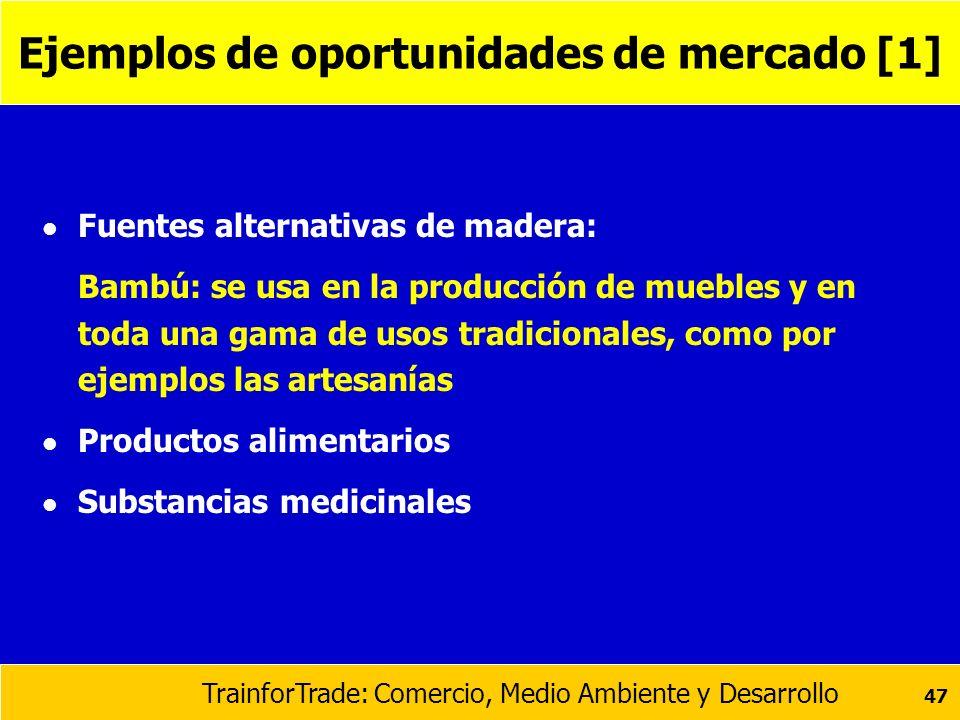 Ejemplos de oportunidades de mercado [1]